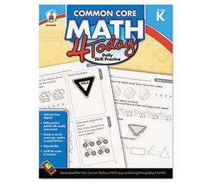 Carson-Dellosa Publishing Co., Inc 104589 Common Core 4 Today Workbook, Math, Kindergarten, 96 pages by CARSON-DELLOSA PUBLISHING