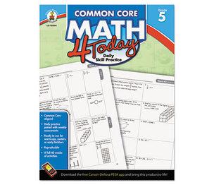 Carson-Dellosa Publishing Co., Inc 104594 Common Core 4 Today Workbook, Math, Grade 5, 96 pages by CARSON-DELLOSA PUBLISHING