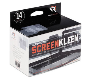 READ/RIGHT RR1291 ScreenKleen Alcohol-Free Wipes, Cloth, 5 x 5, 14/Box by READ/RIGHT