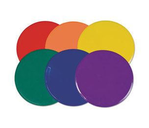 """CHAMPION SPORTS XLMSPSET Extra Large Poly Marker Set, 12"""" Diameter, Assorted Colors, 6 Spots/Set by CHAMPION SPORT"""