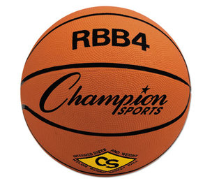 CHAMPION SPORTS RBB4 Rubber Sports Ball, For Basketball, No. 6, Intermediate Size, Orange by CHAMPION SPORT