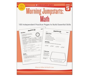 Scholastic 546418 Morning Jumpstart Series Book, Math, Grade 5 by SCHOLASTIC INC.