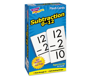 TREND ENTERPRISES, INC. T53103 Skill Drill Flash Cards, 3 x 6, Subtraction by TREND ENTERPRISES, INC.
