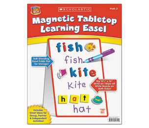 Scholastic 989357 Magnetic Tabletop Learning Easel, Ages 4-7 by SCHOLASTIC INC.