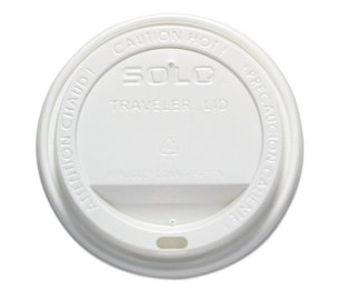SOLO OFTL16-0007 Traveler Drink-Thru Lid, 12-16oz Hot Cups, White, 50/Pack, 6 Packs/Carton by SOLO CUPS