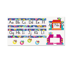 TREND ENTERPRISES, INC. T8364 Owl Stars Alphabet Line Bulletin Board Set, 12 3/4 x 8 1/2, 29 pieces by TREND ENTERPRISES, INC.