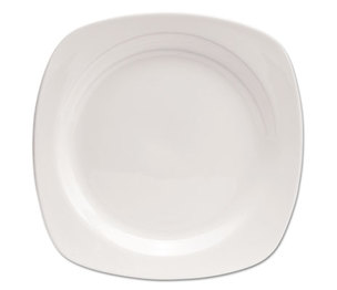 "Office Settings Inc CTS1 Chef's Table Porcelain Square Dinnerware, Plate, 10 1/2"" dia, White, 8/Box by OFFICE SETTINGS"