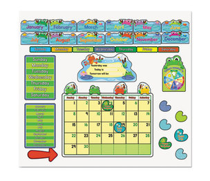 Carson-Dellosa Publishing Co., Inc 110205 FUNky Frog Calendar Bulletin Board Set by CARSON-DELLOSA PUBLISHING