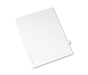 Avery 82168 Allstate-Style Legal Side Tab Divider, Title: F, Letter, White, 25/Pack by AVERY-DENNISON