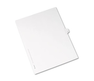 Avery 82176 Allstate-Style Legal Side Tab Divider, Title: N, Letter, White, 25/Pack by AVERY-DENNISON
