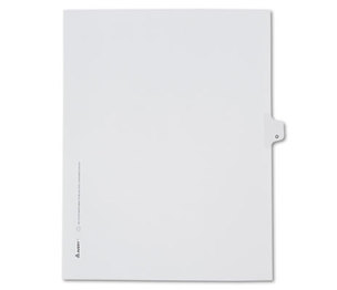 Avery 82177 Allstate-Style Legal Side Tab Divider, Title: O, Letter, White, 25/Pack by AVERY-DENNISON