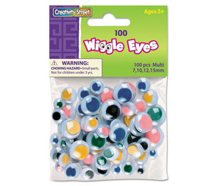 The Chenille Kraft Company 3446-01 Wiggle Eyes Assortment, Assorted Sizes, Assorted Colors, 100/Pack by THE CHENILLE KRAFT COMPANY