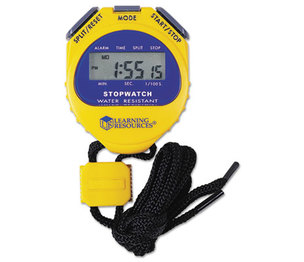 LEARNING RESOURCES/ED.INSIGHTS LER0525 Big Digit Stopwatch, Waterproof, 1/100 Second, Alarm, Yellow by LEARNING RESOURCES