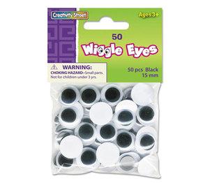 The Chenille Kraft Company 3443-02 Round Black Wiggle Eyes, 15mm, Black, 50/Pack by THE CHENILLE KRAFT COMPANY