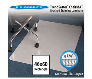 """E.S. ROBBINS 119338 Stainless 60x46 Rectangle Chair Mat, Design Series for Carpet up to 3/4"""" by E.S. ROBBINS"""