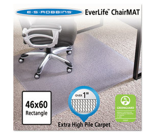 """E.S. ROBBINS 124371 46x60 Rectangle Chair Mat, Performance Series AnchorBar for Carpet over 1"""" by E.S. ROBBINS"""
