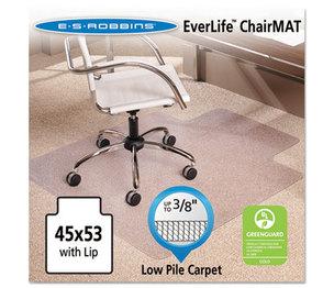 "E.S. ROBBINS 128173 45x53 Lip Chair Mat, Multi-Task Series AnchorBar for Carpet up to 3/8"" by E.S. ROBBINS"