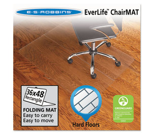 E.S. ROBBINS 130082 Foldable 36x48 Rectangle Chair Mat, Task Series for Hard Floors by E.S. ROBBINS