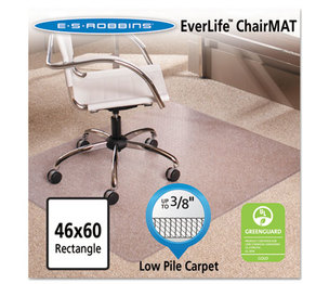 """E.S. ROBBINS 128371 46x60 Rectangle Chair Mat, Multi-Task Series AnchorBar for Carpet up to 3/8"""" by E.S. ROBBINS"""