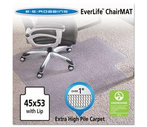 "E.S. ROBBINS 124173 45x53 Lip Chair Mat, Performance Series AnchorBar for Carpet over 1"" by E.S. ROBBINS"