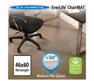 E.S. ROBBINS 122371 EverLife Chair Mats For Medium Pile Carpet, Rectangular, 46 x 60, Clear by E.S. ROBBINS