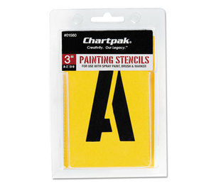 Chartpak, Inc 01560 Painting Stencil Set, A-Z Set/0-9, Manila, 35/Set by CHARTPAK/PICKETT