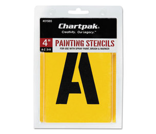 Chartpak, Inc 01565 Painting Stencil Set, A-Z Set/0-9, Manila, 35/Set by CHARTPAK/PICKETT