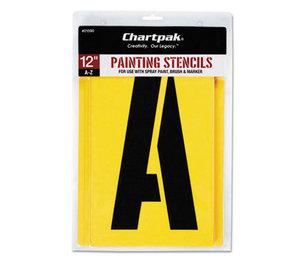 Chartpak, Inc 01590 Painting Stencil Set, A-Z Set, Manila, 26/Set by CHARTPAK/PICKETT