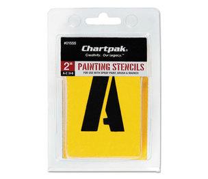 Chartpak, Inc 01555 Painting Stencil Set, A-Z Set/0-9, Manila, 35/Set by CHARTPAK/PICKETT