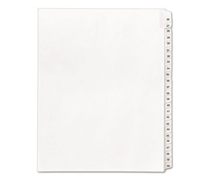 Avery 01702 Allstate-Style Legal Side Tab Dividers, 25-Tab, 26-50, Letter, White, 25/Set by AVERY-DENNISON