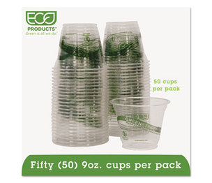 Eco-Products, Inc EP-CC9S-GSPK GreenStripe Cold Drink Cups, 9oz, Clear, 50/Pack by ECO-PRODUCTS,INC.