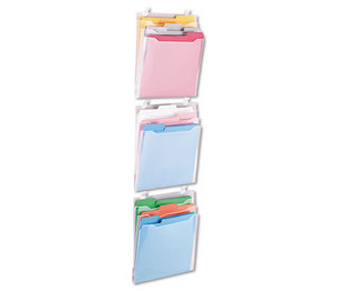 Advantus Corporation 75316 Transparent Three Pocket Panel Wall Organizers, Letter, Clear by ADVANTUS CORPORATION