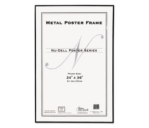 Nu-Dell Manufacturing Company, Inc 31242 Metal Poster Frame, Plastic Face, 24 x 36, Black by NU-DELL MANUFACTURING