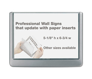 Durable Office Products Corp. 4977-23 Click Sign Holder For Interior Walls, 6 3/4 x 1/2 x 5 1/8, Graphite by DURABLE OFFICE PRODUCTS CORP.