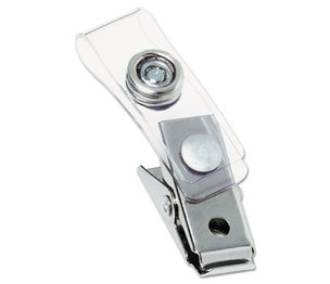 ACCO Brands Corporation 1122797 Badge Clip with Mylar Strap, Silver, 100/Box by GBC-COMMERCIAL & CONSUMER GRP