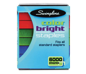 ACCO Brands Corporation 35123 Color Bright Staples, Assorted Colors, Blue, Red, Green, 6000/Pack by ACCO BRANDS, INC.