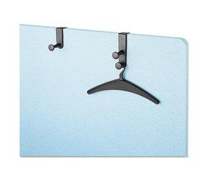 Quartet 20702 Over-The-Panel Hook with Steel Double-Garment Hanger, 1 3/4 x 6 7/8, Black by QUARTET MFG.