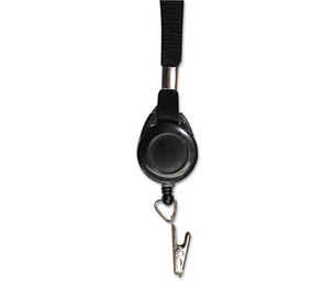 "Advantus Corporation AVT-75549 Lanyards with Retractable ID Reels, Clip Style, 36"" Long, Black, 12/PK by ADVANTUS CORPORATION"