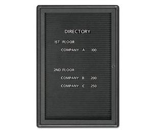 Quartet 2963LM Enclosed Magnetic Directory, 24 x 36, Black Surface, Graphite Aluminum Frame by QUARTET MFG.