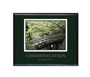 Advantus Corporation 78026 Communication Framed Motivational Print, 30 x 24 by ADVANTUS CORPORATION