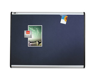 Quartet MB543A Prestige Plus Magnetic Fabric Bulletin Board, 36 x 24, Aluminum Frame by QUARTET MFG.