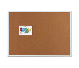 Quartet 2304 Classic Cork Bulletin Board, 48 x 36, Silver Aluminum Frame by QUARTET MFG.