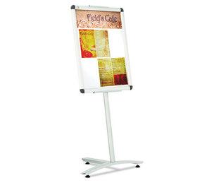 Clip-Frame Pedestal Sign, Aluminum, 24 x 18, Aluminum by QUARTET MFG.