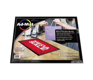 Artistic Products, LLC 25202 AdMat Counter Mat, 8 1/2 x 11, Black Base by ARTISTIC LLC