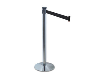 "Tatco Products, Inc 11500 Adjusta-Tape Crowd Control Stanchion Posts, Nylon, 40"" High, Black, 2/Box by TATCO"
