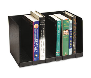 Buddy Products 570-4 Six Section Book Rack w/Dividers, Steel, 15 x 9 1/4 x 9 1/4, Black by BUDDY PRODUCTS