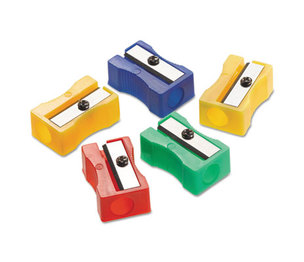 One-Hole Manual Pencil Sharpeners, Red/Blue/Green/Yellow, 4w x 2d x 1h, 24/Pack by ACME UNITED CORPORATION