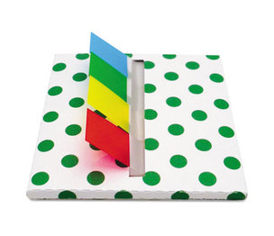 Redi-Tag Corporation 75011 Green Dot Designer Pop-Up Page Flag Dispenser, 4 Pads of 35 Flags Each by REDI-TAG CORPORATION