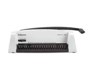 Fellowes, Inc 5227701 Starlet2+ Manual Comb Binding Machine, 120 Sheets, 19 1/2 x 8 x 5 1/2, White by FELLOWES MFG. CO.