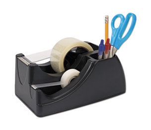 """OFFICEMATE INTERNATIONAL CORP. OIC96690 Recycled 2-in-1 Heavy Duty Tape Dispenser, 1"""" and 3"""" Cores, Black by OFFICEMATE INTERNATIONAL CORP."""